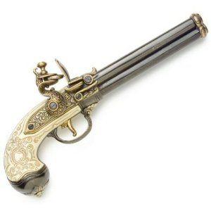 Triple Barrel Revolver Flintlock Gun   Triple Barrel Flintlock Pistol