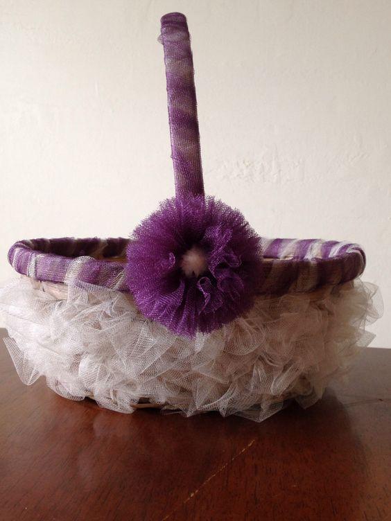 Flower Girl Baskets On Pinterest : Flower girl basket girls and baskets on