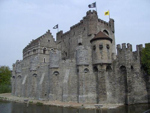 Gravensteen castle, 12th century, Ghent, Belgium