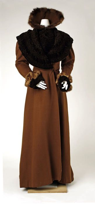 Coffee on toffee.  Coat    1898    The Metropolitan Museum of Art  #1890s: