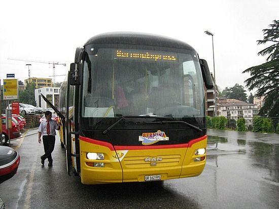 the Bernina Express Bus