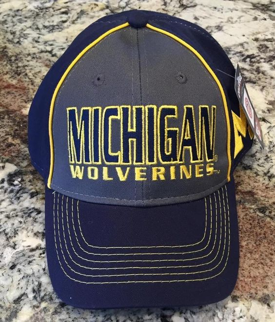 university of michigan fitted baseball hat eastern cap secret pink wolverines tee size new with tags state caps