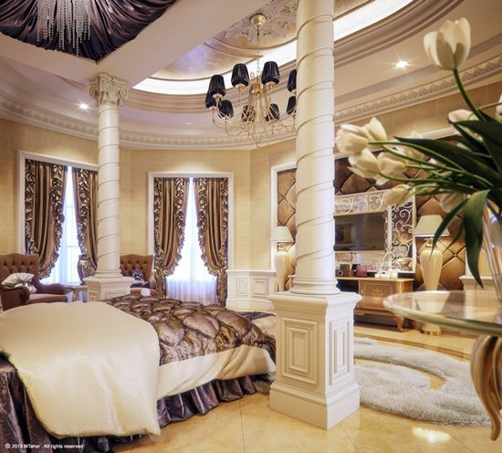 Luxury master bedroom in qatar dream home pinterest for Expensive master bedrooms