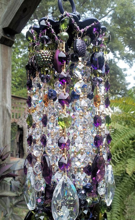Gypsy Spirit Antique Crystal Wind Chime by sheriscrystals on Etsy