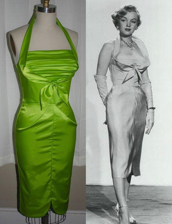 Harriet-Marilyn Monroe Stlye Wiggle Dress by MorningstarPinup