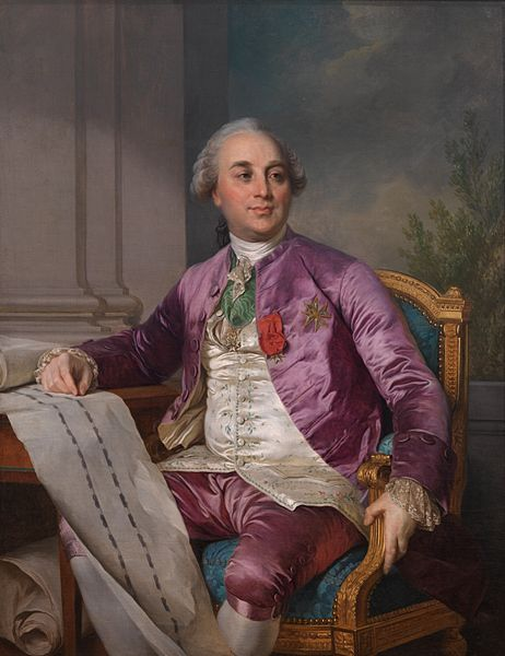 Charles-Claude Flahaut de la Billarderie comte d'Angiviller (1730-1809), ca. 1780's by Joseph-Siffred Duplessis (1725-1802):