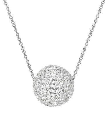 Another great find on #zulily! Swarovski® Crystal & Sterling Silver Fireball Pendant Necklace #zulilyfinds