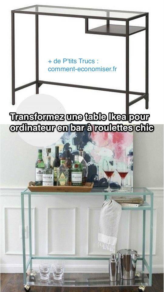 Transformer Une Table Pour Ordinateur Portable En Bar Pour L Ap Eacute Ro Mobilier De Salon Ikea Meubles Ikea
