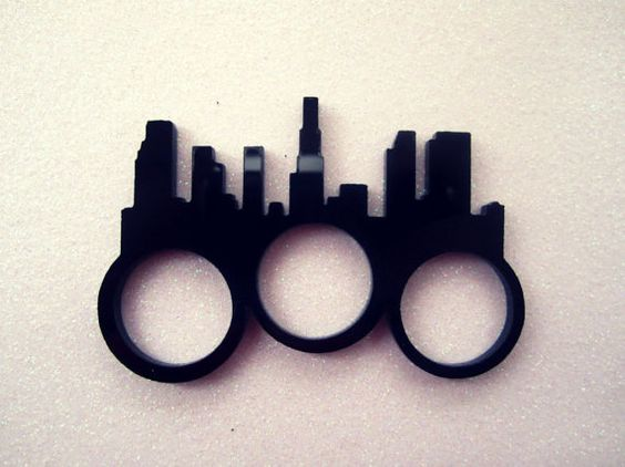 Los Angeles Skyline Three Finger Ring, if only it was SD's skyline