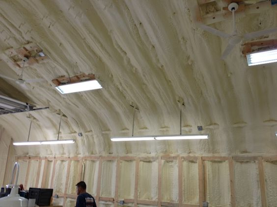 Applying Spray Foam To Turn Your Quonset Hut Into Useable