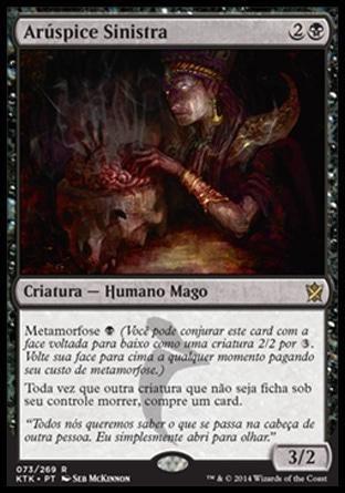 Arúspice Sinistra / Grim Haruspex | Busca de Cards | Ligamagic