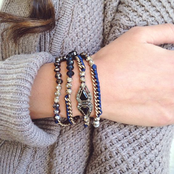 """Wrap-up"" 2015 and 'arm-party' into the new year with this gorgeous multi-wrap bracelet from my online boutique!"