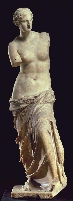 Vênus de Milo (c.100 a.C.). Artista desconhecido. mármore 2,02m de altura. Museu do Louvre, Paris, França. Book: FARTHING, Stephen. This is Art. London: Quintessence, 2010.:
