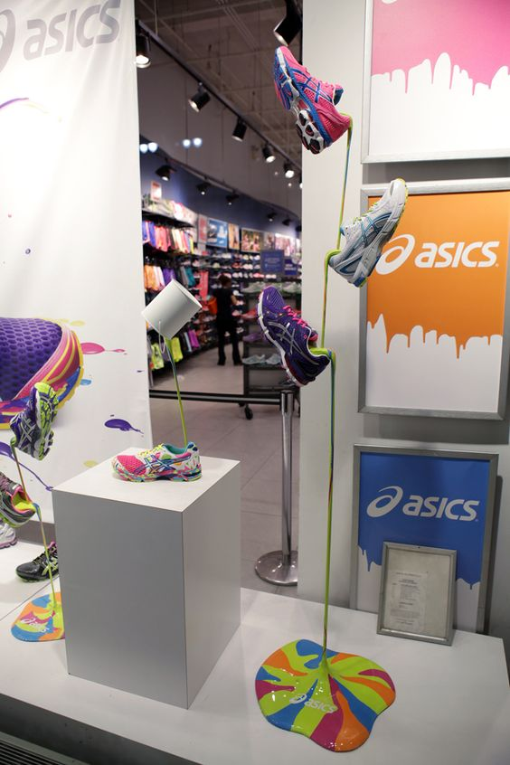 Colors that run: ASICS window display by Vitro Agency