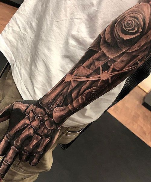 125 Best Arm Tattoos For Men In 2020 Cool Arm Tattoos Skeleton Hand Tattoo Arm Tattoos For Guys