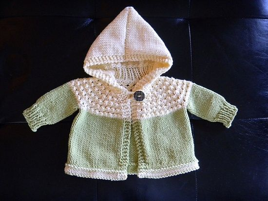 Free Knitting Patterns For Spring Sweaters : Free Pattern: One Skein Hooded Baby Sweater. Love to Knit Pinterest Pat...