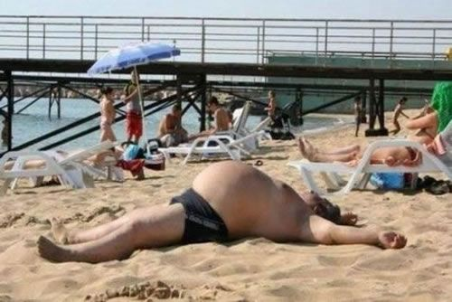 Image result for free images of fat man sunbathing in garden