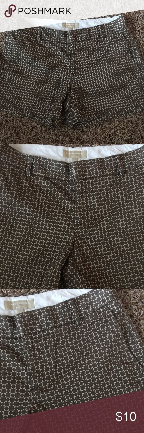 BANANA REPUBLIC SHORTS 💕FINAL SALE💕 Cotton shorts in very good condition, look new. Color brown and tan. Banana Republic Shorts