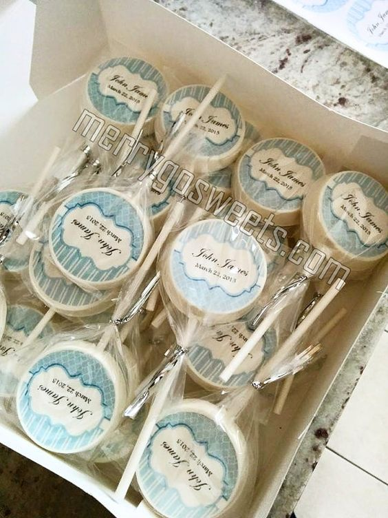 Chocolate Lollipops - 20 Edible Print Birthday Party Baptism Christening Wedding Shower Communion favors