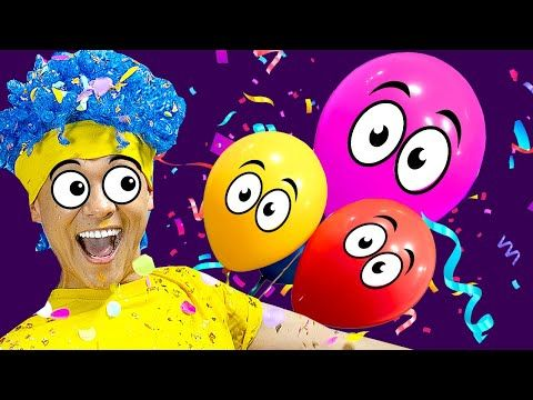 Learn Colors With Funny Balloons D Billions Kids Songs Youtube Learning Colors Kids Songs Flower Phone Wallpaper