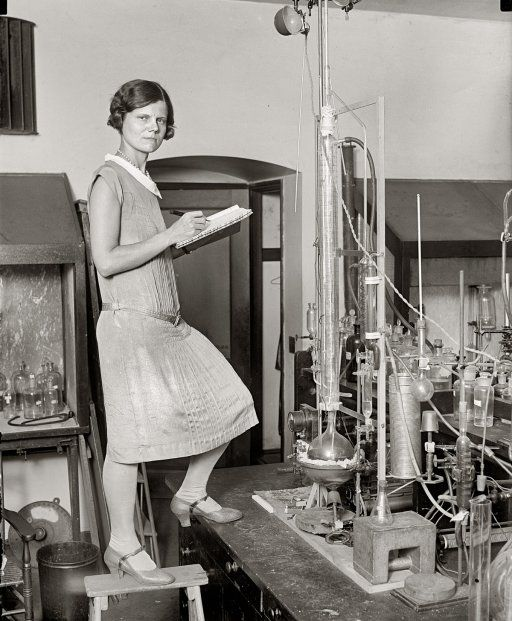 """Washington, D.C., circa 1923. """"Woman scientist."""" National Photo Company Collection glass negative, Library of Congress."""