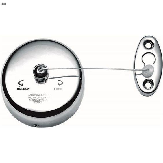 Decor Walther enkele waslijn BA WL BASIC chrom - Waslijnen - Badkamer-Toilet - Design bestel je online | 5cc.nl