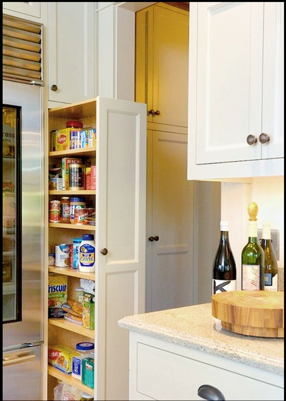 10 inspiring small space pantries small kitchens kitchen cost and pull out pantry. Black Bedroom Furniture Sets. Home Design Ideas
