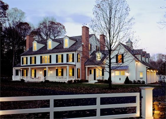 Colonial Colonial Exterior And Porches On Pinterest
