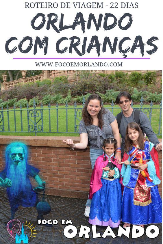 Roteiro de 22 dias com crianças em Orlando