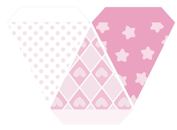 stars - dots - hearts banderines Pinterest Stars, Heart and Dots - pennant banner template