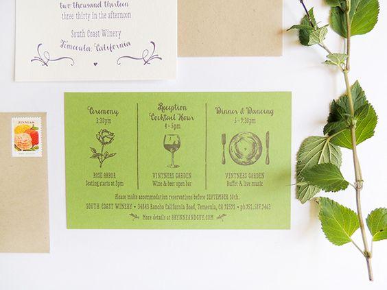 ► Invitaciones de boda del viñedo. #invitaciones #bodas