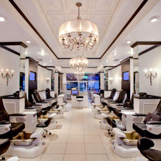 Latest project: Posh Nail Spa, Dallas, TX | Salon interior ...