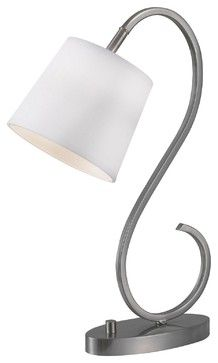 Wilson Brushed Steel Finish Desk Lamp