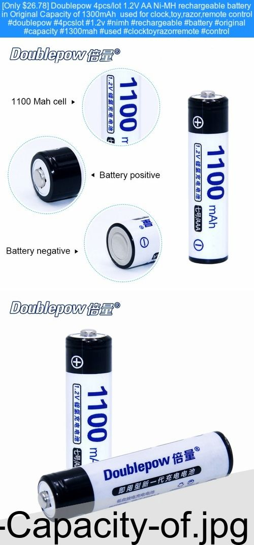Only 26 78 Doublepow 4pcs Lot 1 2v Aa Ni Mh Rechargeable Battery In Original Capacity Of 1300mah Used For Clock Toy Razor Remote Control Doublepow 4pcslot
