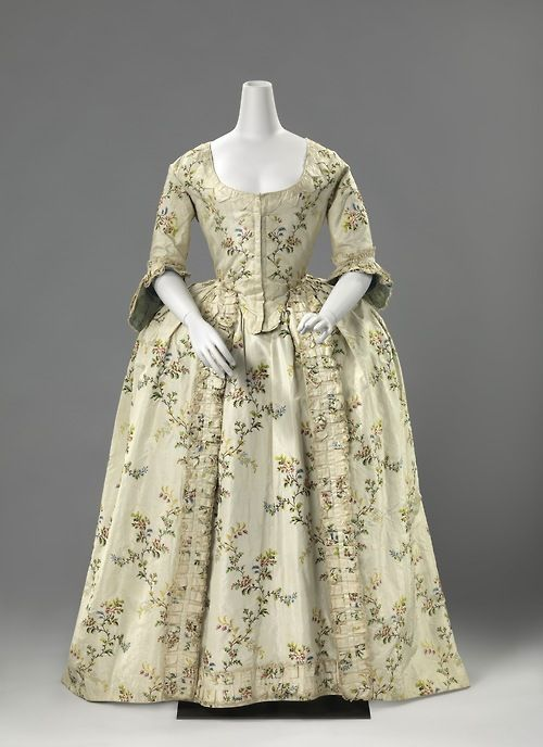 Wedding robe à la française ca. 1760 From the Rijksmuseum