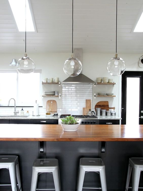 Great tips from House Tweaking on how to clean the West Elm globe lights we have in our kitchen.