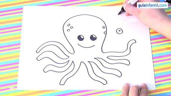 Cómo dibujar un pulpo