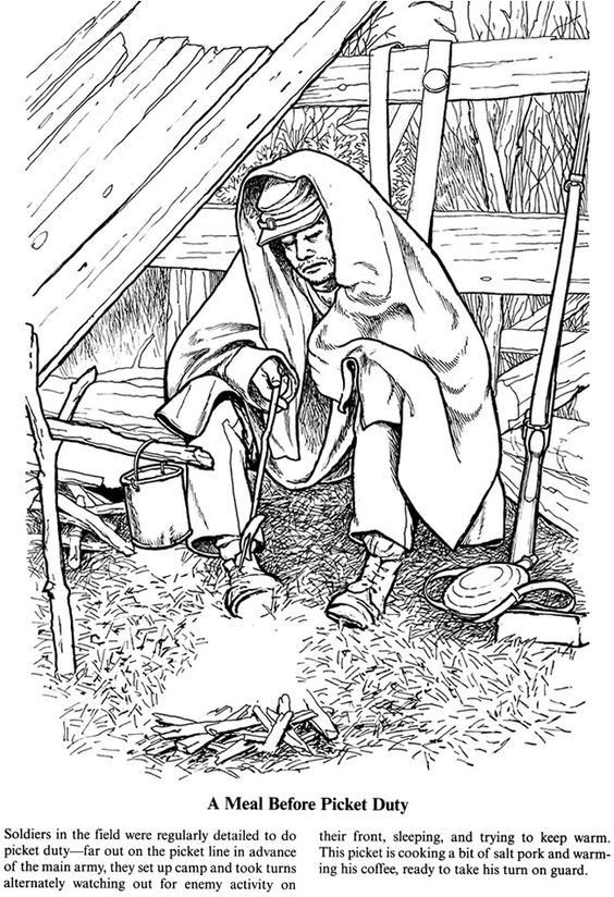 civil war solders coloring pages - photo#21