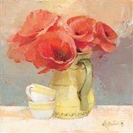 Willem  Haenraets - Floral in red IV