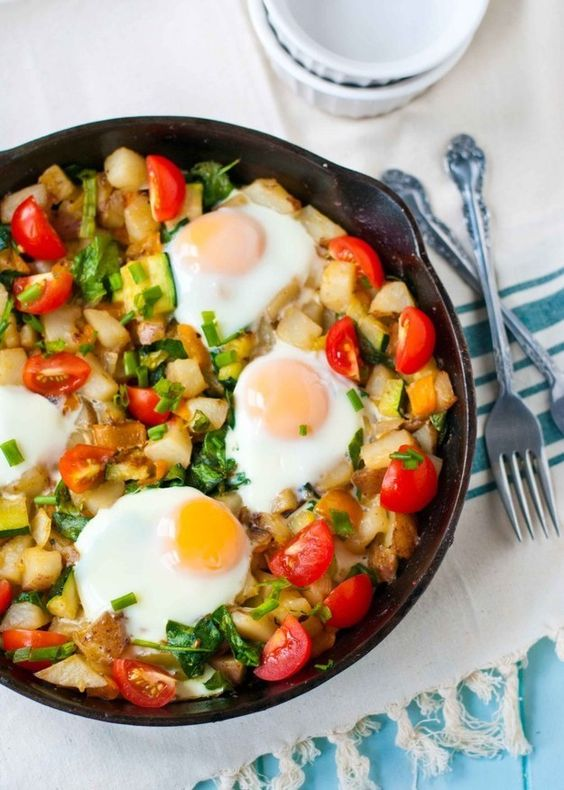 Breakfast hash, Iron skillet recipes and Skillet recipes on Pinterest