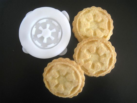 STAR WARS inspired Galactic Republic COOKIE Stamp recipe and instructions - make your own Star Wars inspired cookies. $11.95, via Etsy.