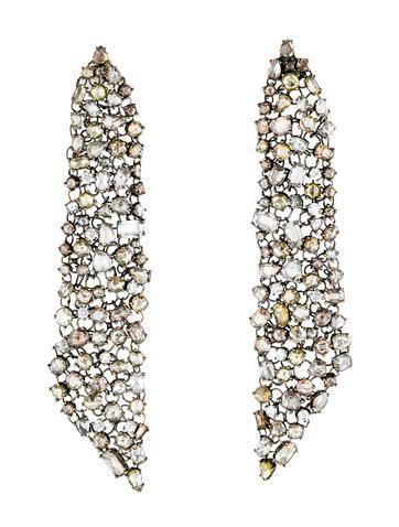 Lorraine Schwartz Rose Cut Mesh Chandelier Earrings