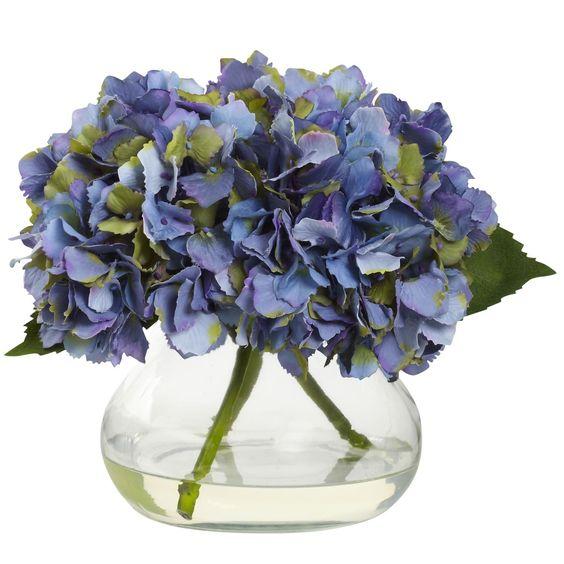 Blue Hydrangea Floral Arrangement: