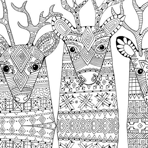 adult coloring pages printable christmas - photo#26