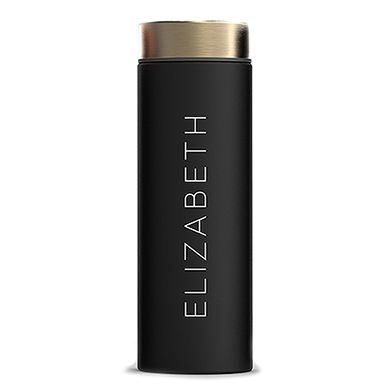 'Le Baton' Travel Bottle - Matte Black with Gold - Contemporary Vertical Line Printing