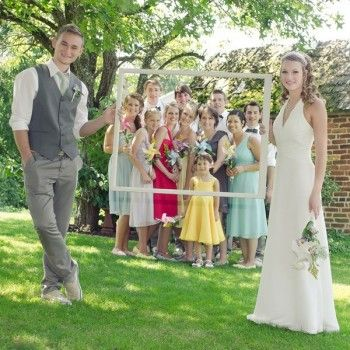 trouwfoto familie inkaderen