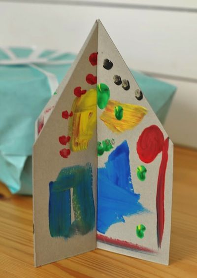 Cardboard house craft for kids arts school pinterest for My home pictures for kids