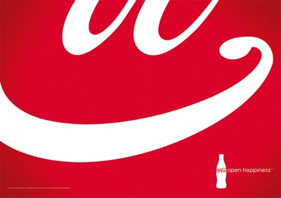 Now this is indeed an unmistakably Coca-Cola smile, even before seeing the bottle at the lower right.    Coca-Cola: Open Happiness