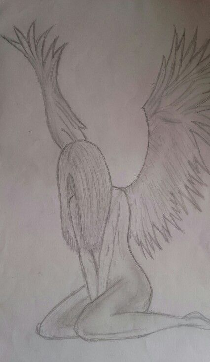 Fallen Angel Drawing With Pencil | sketches, drawings ...