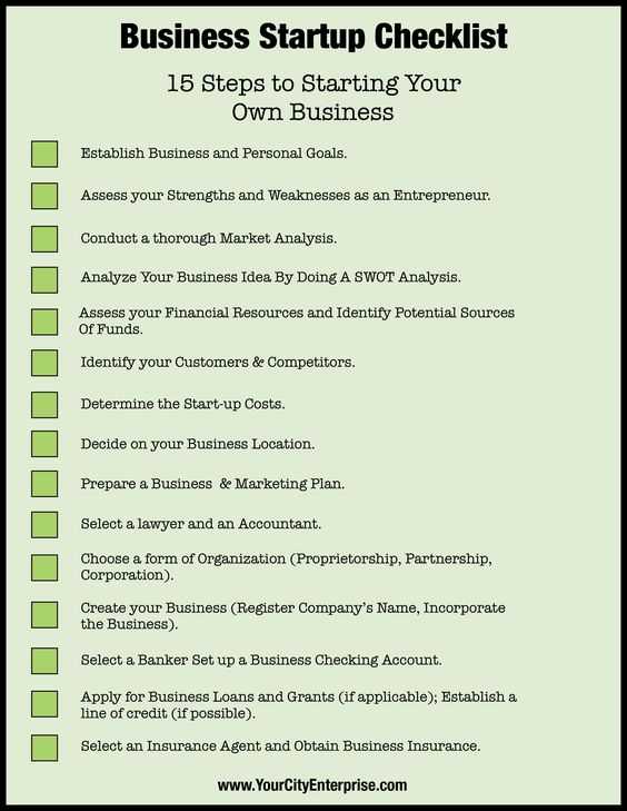 7 Major Steps For Any Business Startup Startups, Business and - business startup checklist